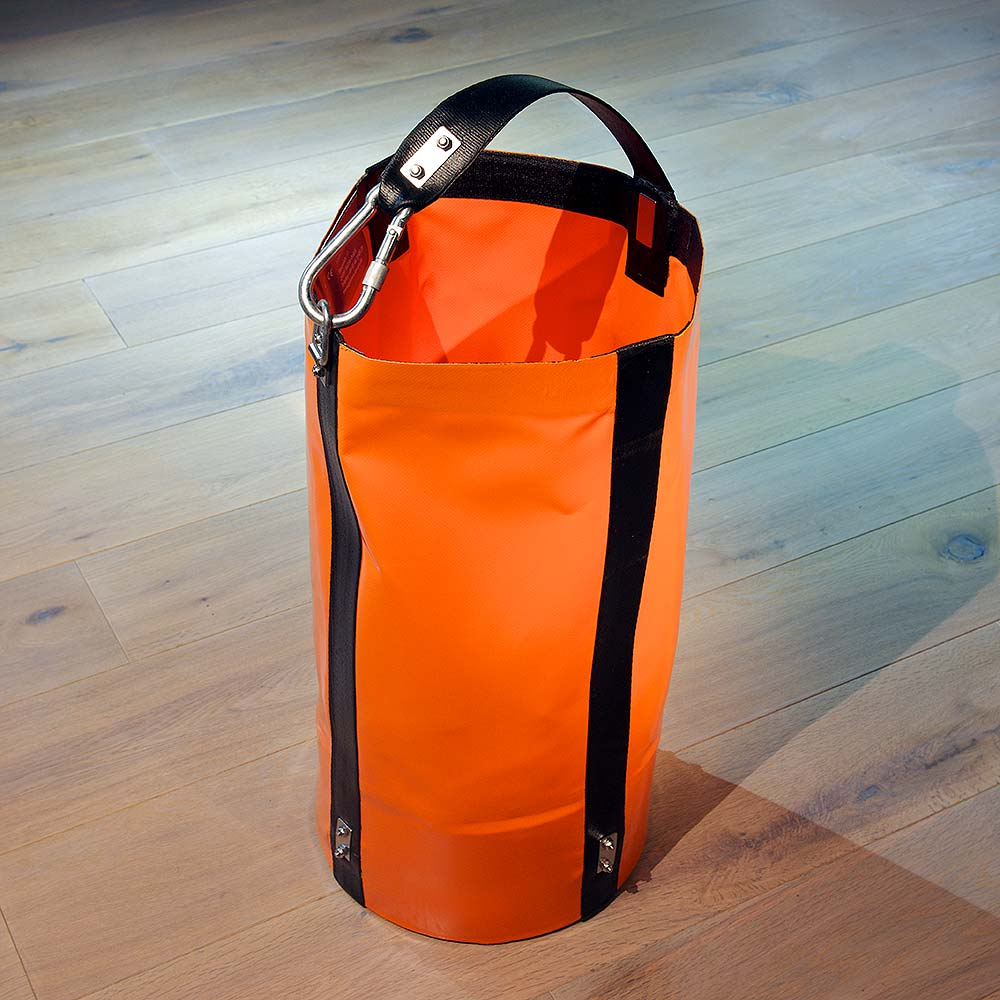 Round heavy load bag made of PVC fabric