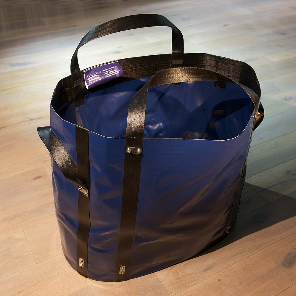Oval heavy load bag made of technical textiles